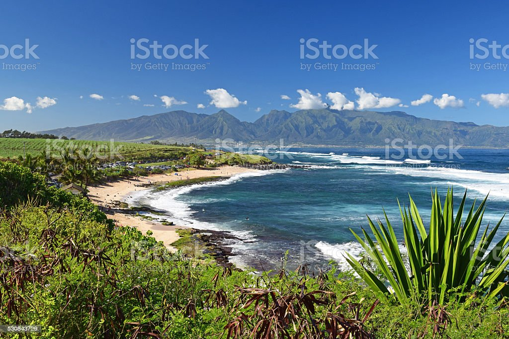 Jaws Beach, Maui stock photo