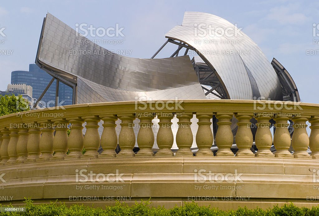 Jay Pritzker Pavilion, Chicago, Millennium Park royalty-free stock photo
