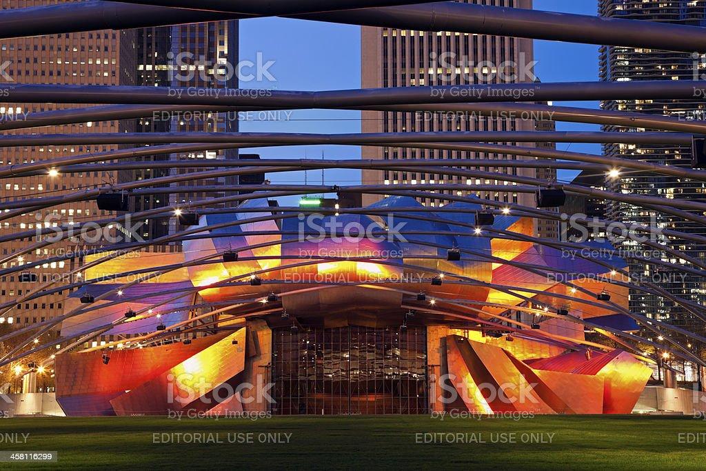 Jay Pritzker Pavilion in Millenium Park stock photo