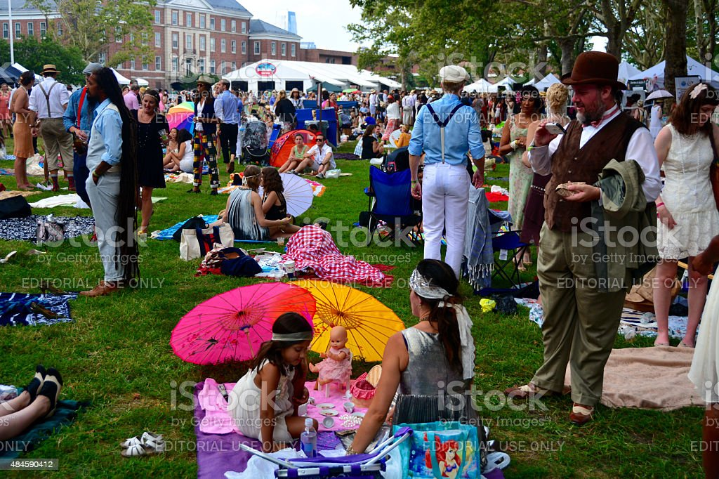 Jazz Age Lawn Party 1920 stock photo