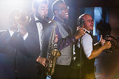 Jazz band performing at a nightclub