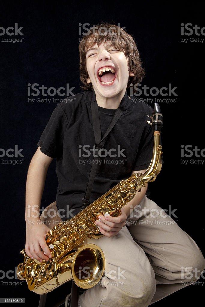 Jazz boy stock photo