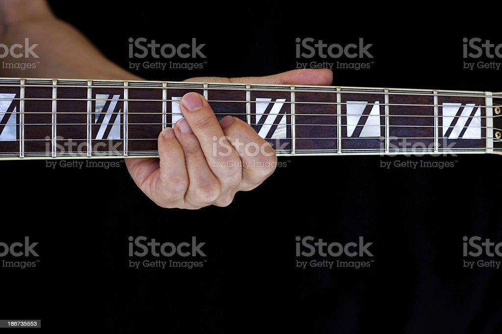 Jazz Chord Grip royalty-free stock photo