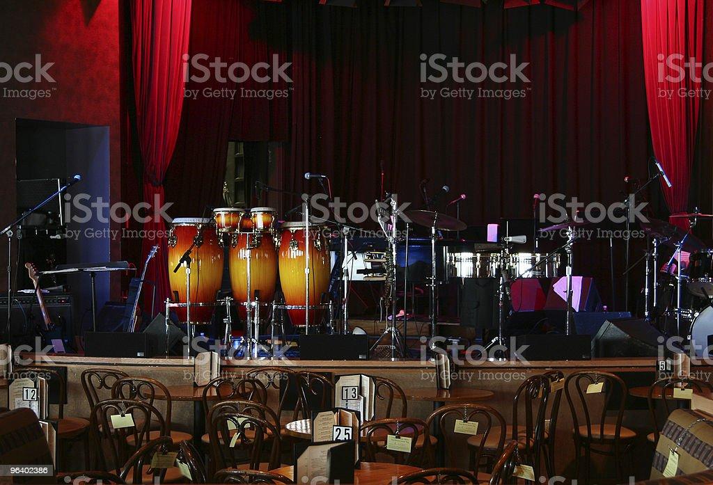 Jazz club stock photo