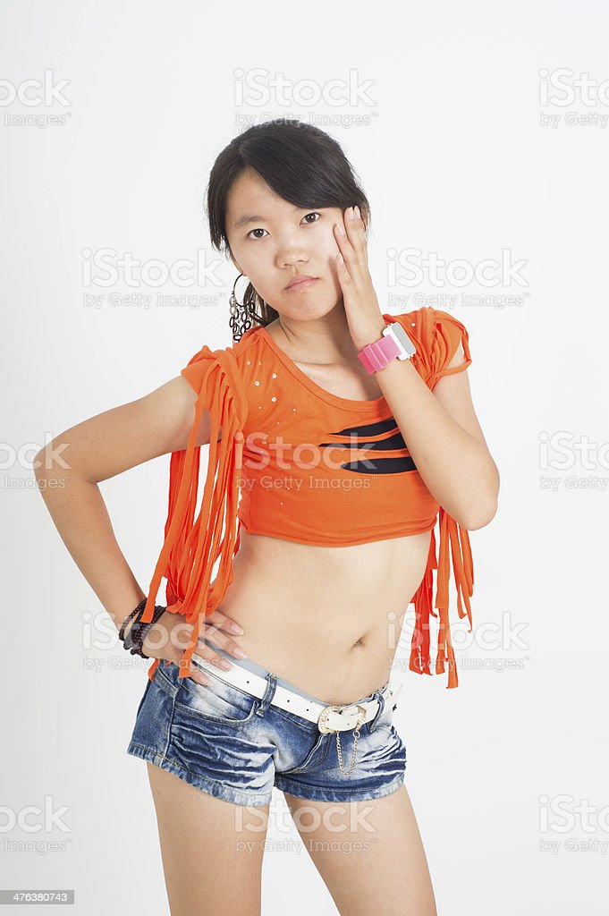 Jazz dance girl royalty-free stock photo
