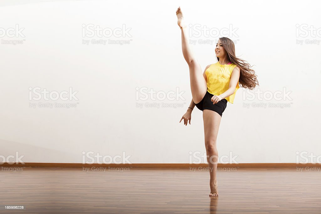 Jazz dancer performing a routine royalty-free stock photo