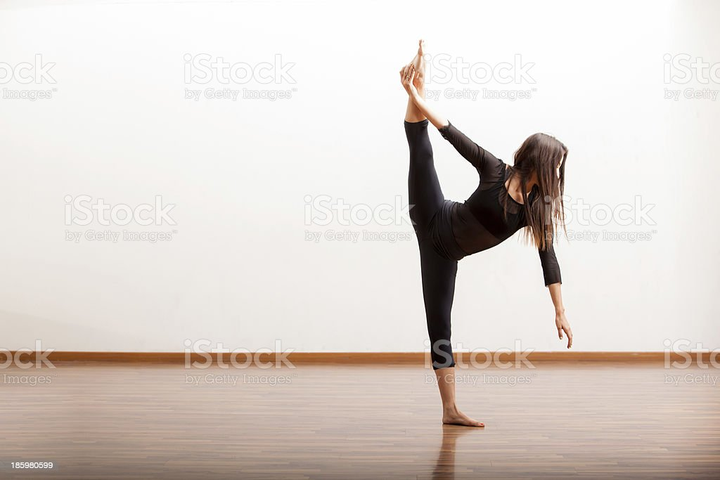 Jazz dancer trying some new moves royalty-free stock photo