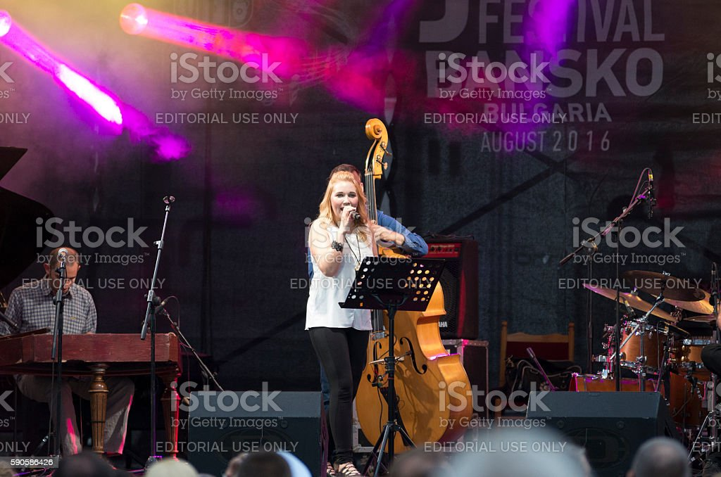 Jazz festival concert in Bansko, Bulgaria royalty-free stock photo