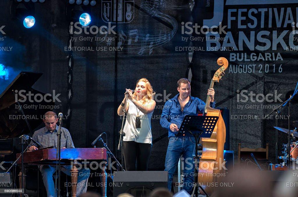 Jazz festival concert in Bansko, Bulgaria stock photo