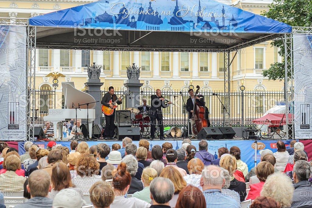 Jazz Festival in St. Petersburg 'Nevsky Violin'. stock photo