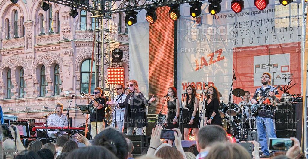 Jazz Festival in St. Petersburg. stock photo
