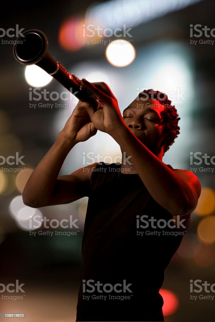Jazz in the night stock photo