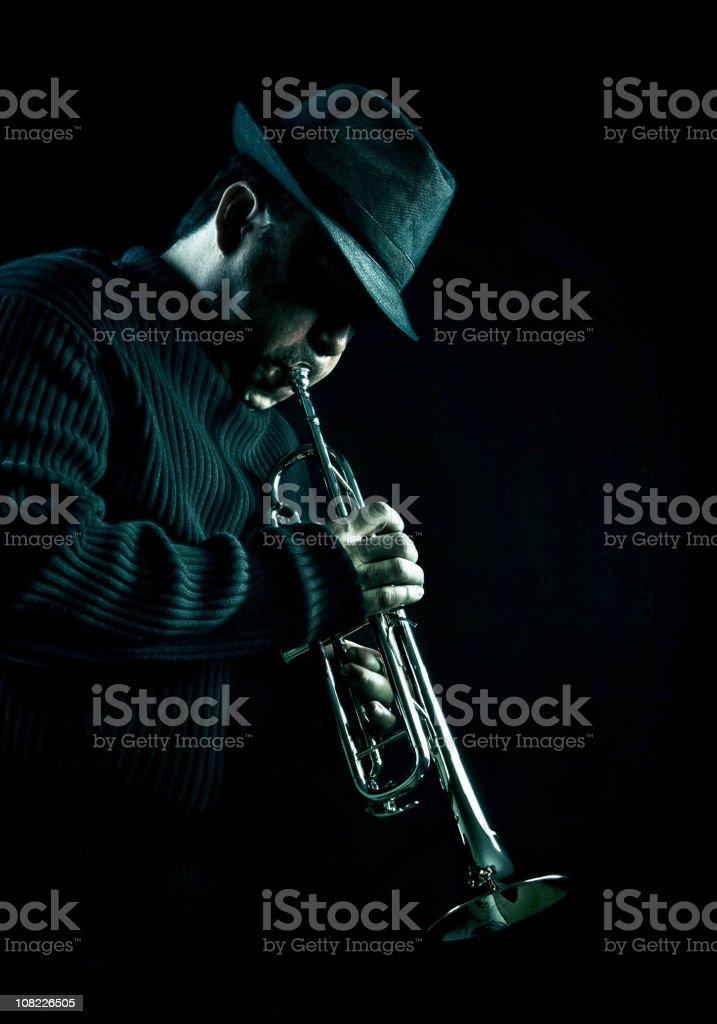 jazz man stock photo