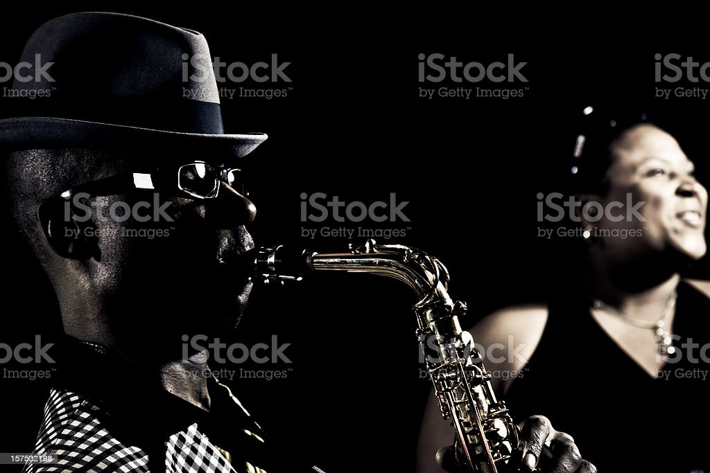 Jazz music performers stock photo