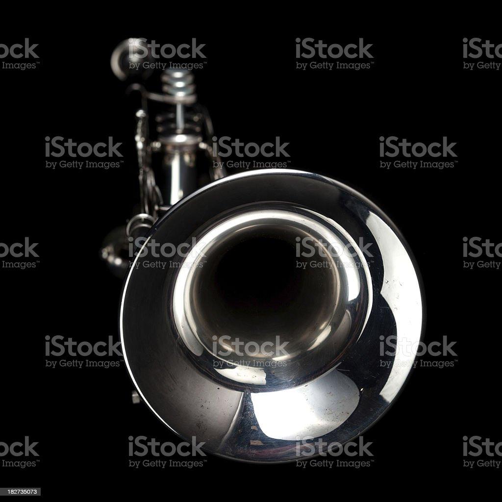 Jazz music trumpet stock photo