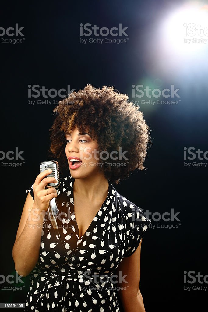 jazz musician on stage stock photo