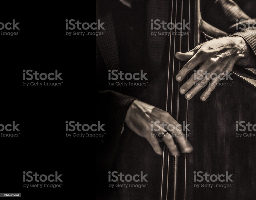 Jazz musician stock photo