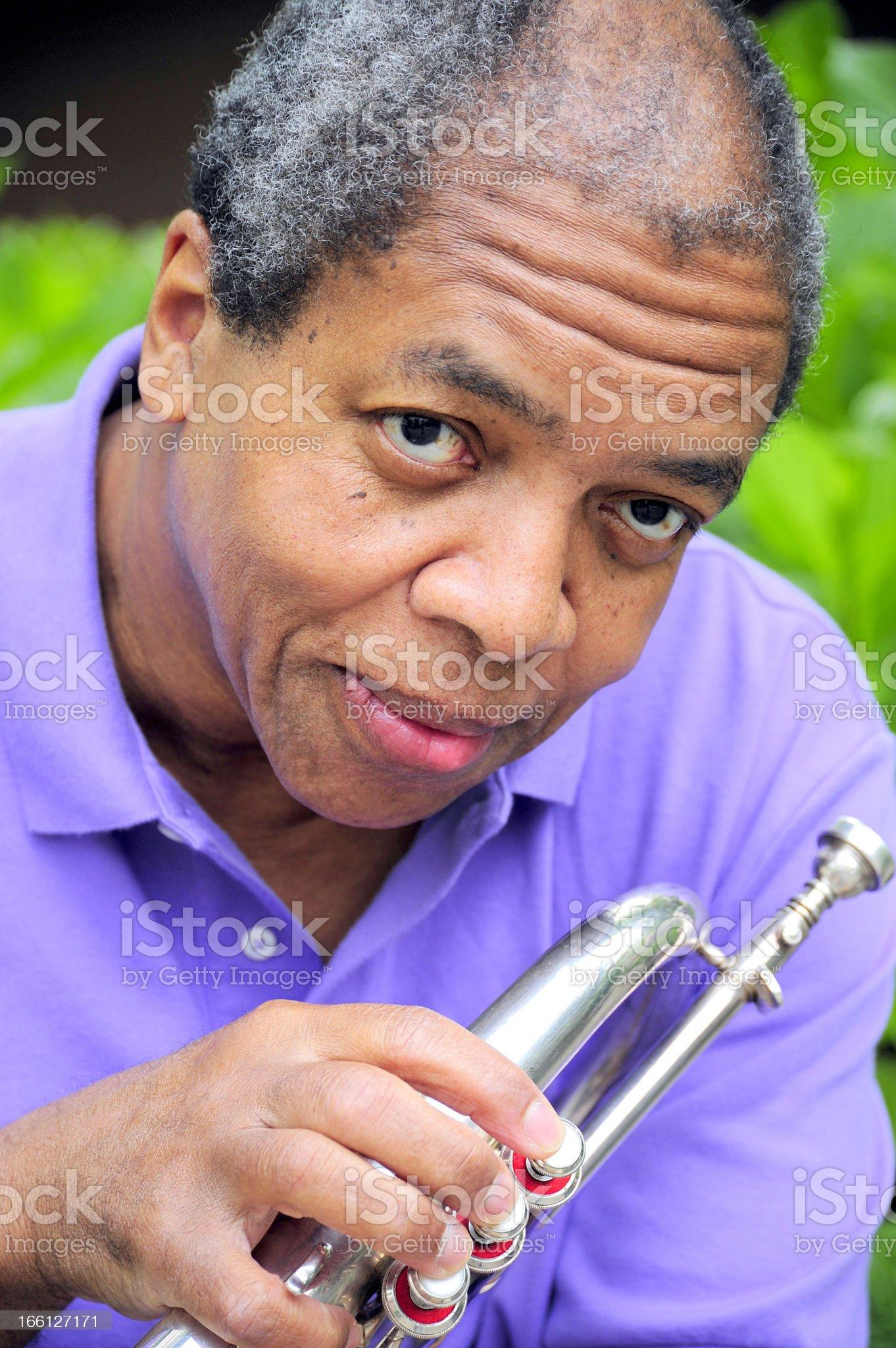 Jazz musician. royalty-free stock photo