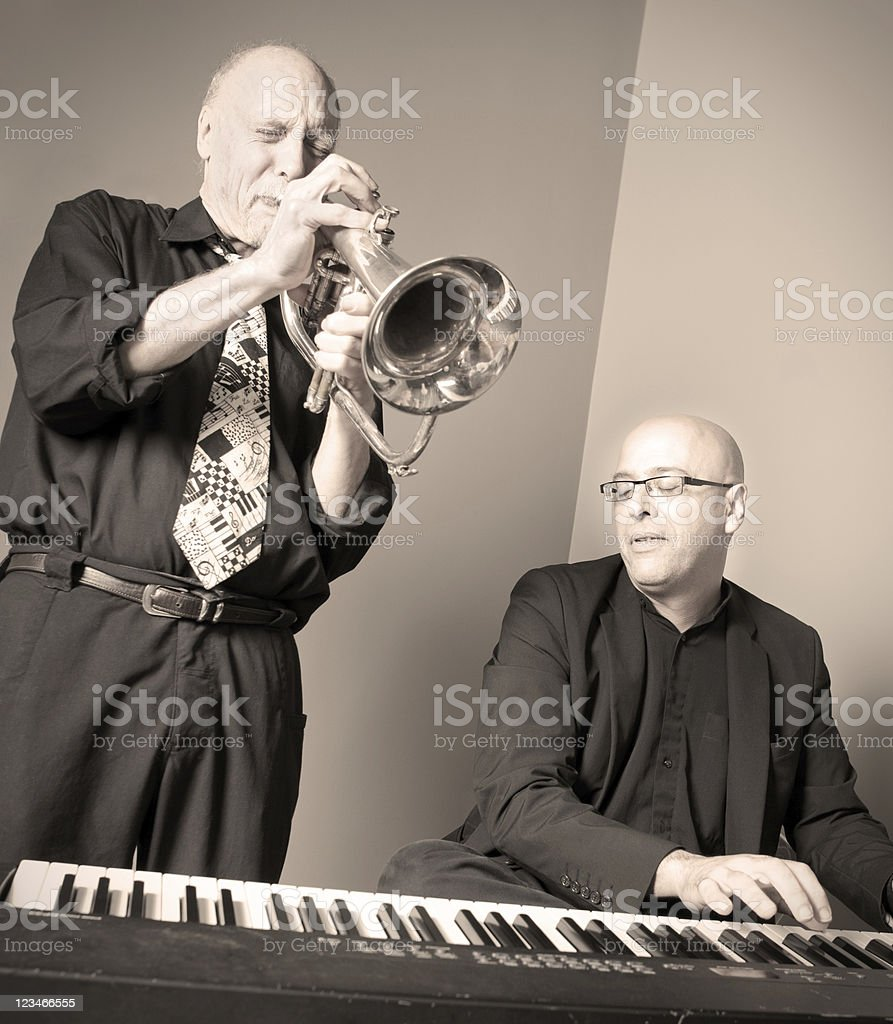 Jazz Musicians Playing royalty-free stock photo