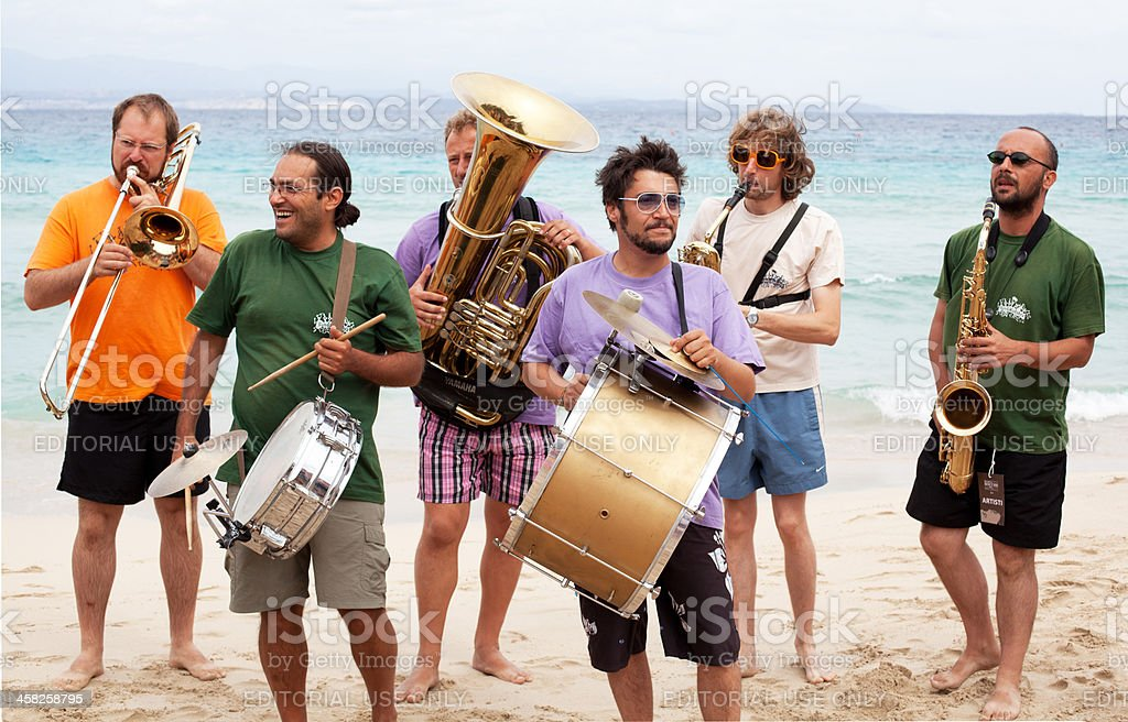 Jazz on the beach stock photo