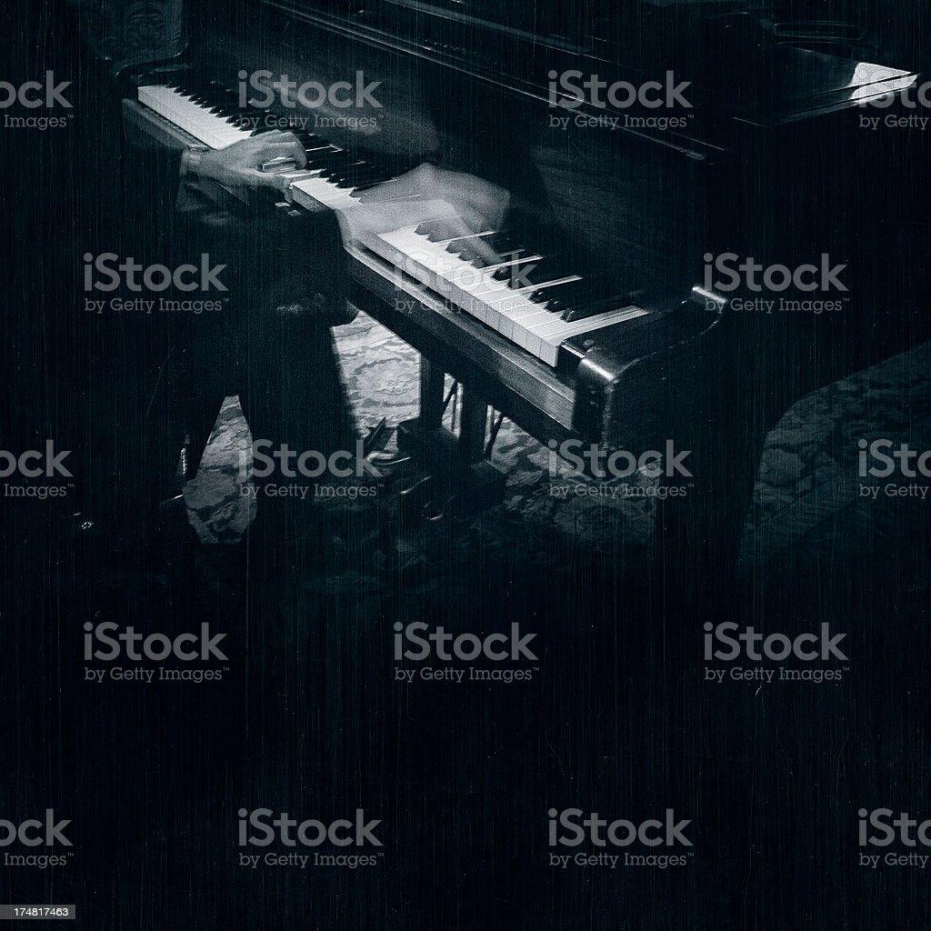 jazz piano player stock photo