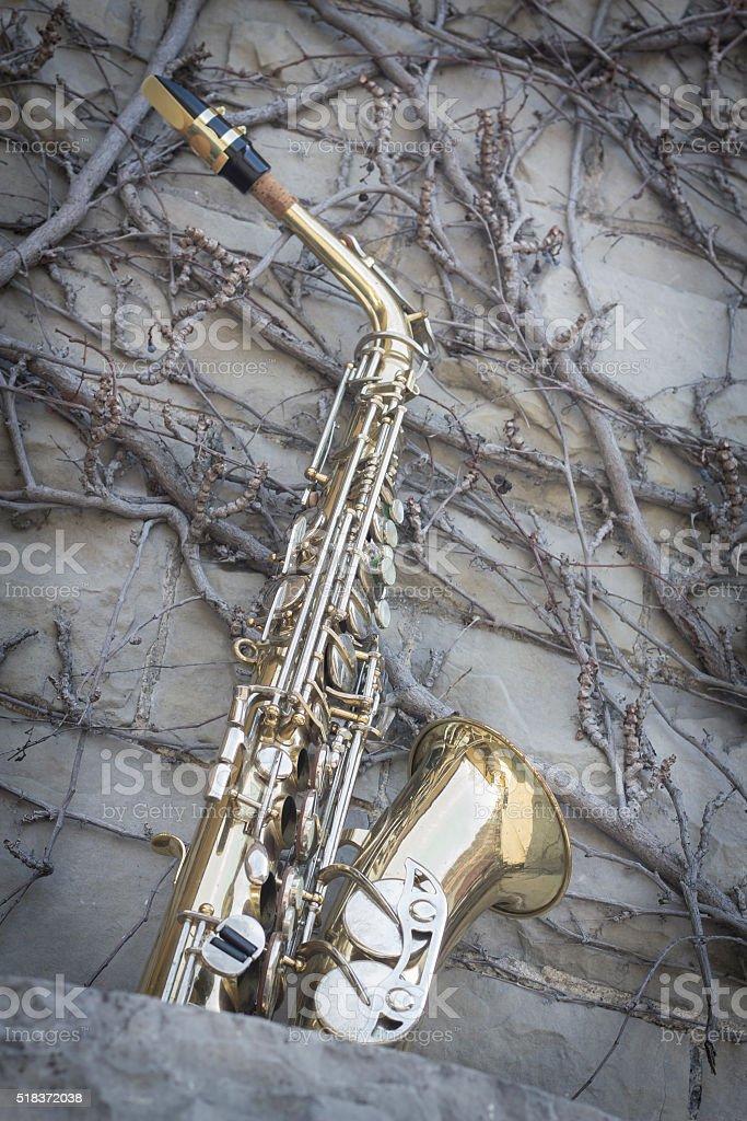 Jazz Saxophone Grunge stock photo