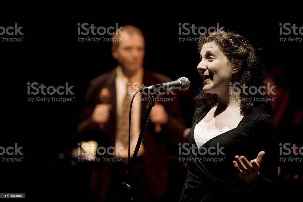 jazz singer stock photo