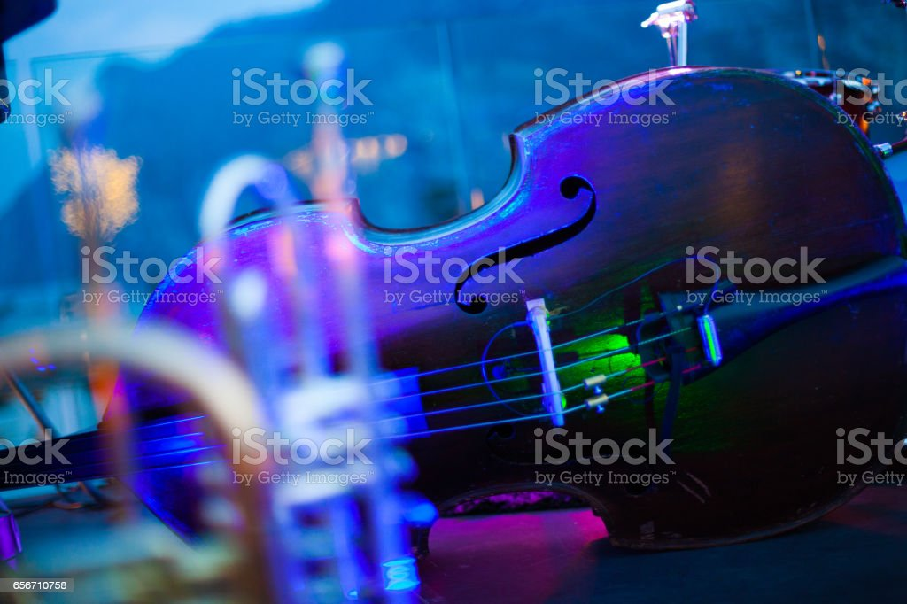 Jazz Trumpet and Cello stock photo