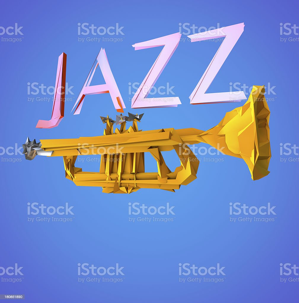 Jazz Trumpet royalty-free stock photo
