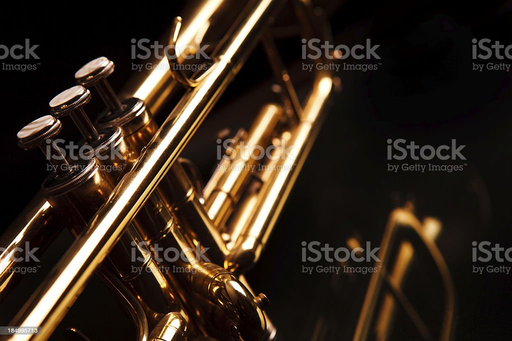 Jazz Trumpet stock photo