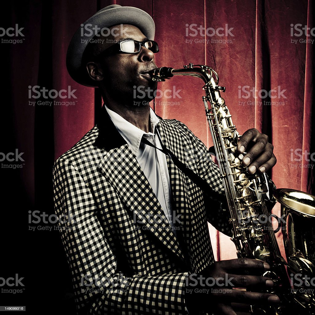 Jazzman stock photo