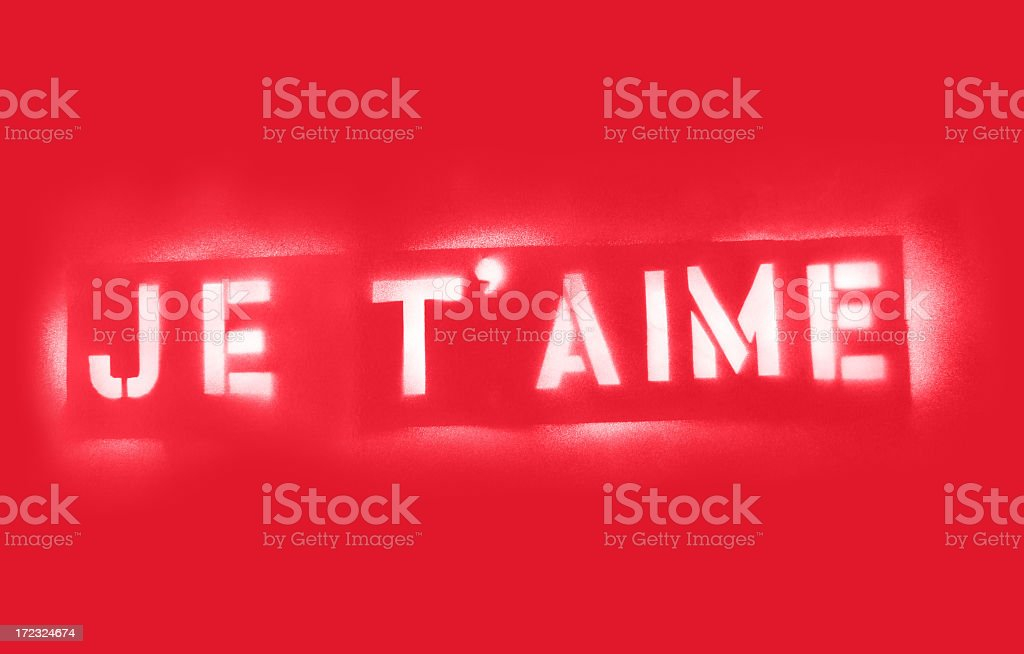 Je t'aime (I Love You) royalty-free stock photo