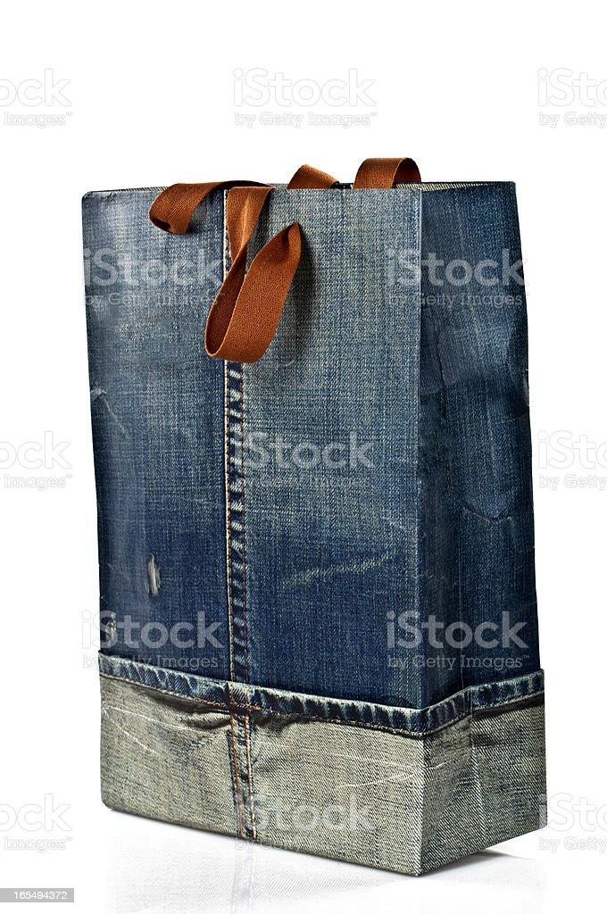 Jean Designed Shopping Bag royalty-free stock photo
