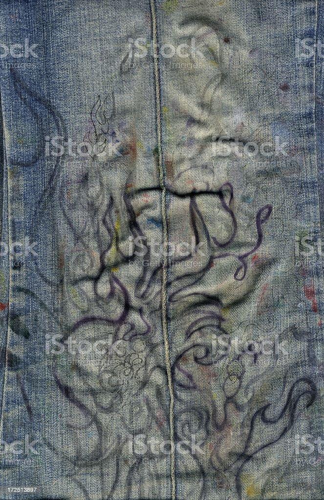 jean-Zeichnung Lizenzfreies stock-foto