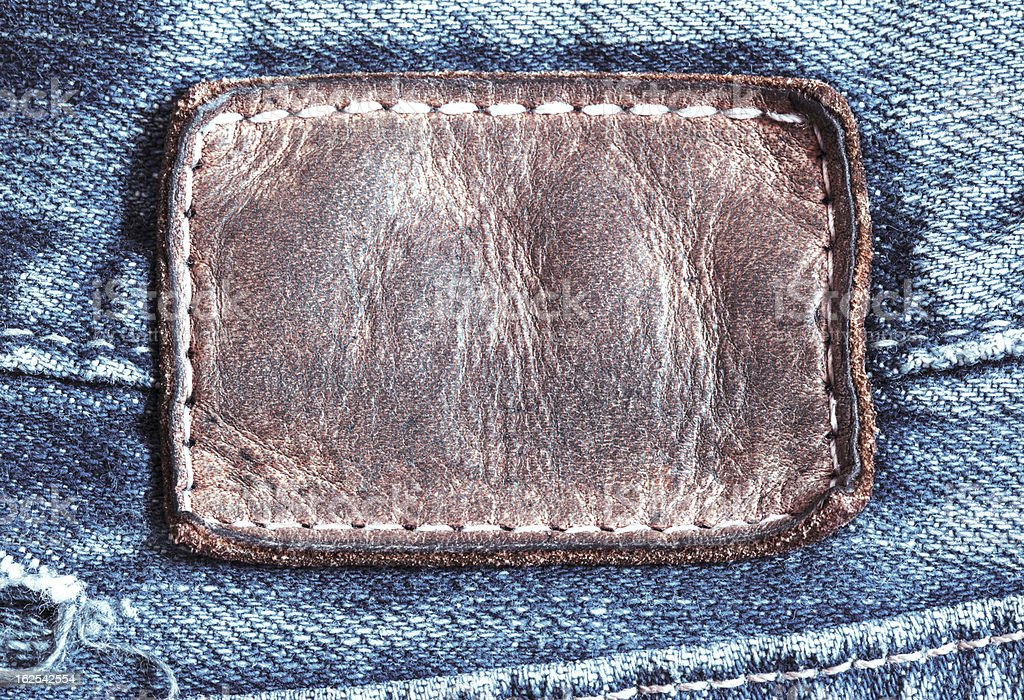 jean leather tag royalty-free stock photo