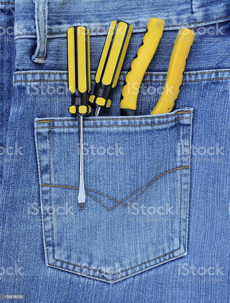 jean pliers Screwdriver royalty-free stock photo