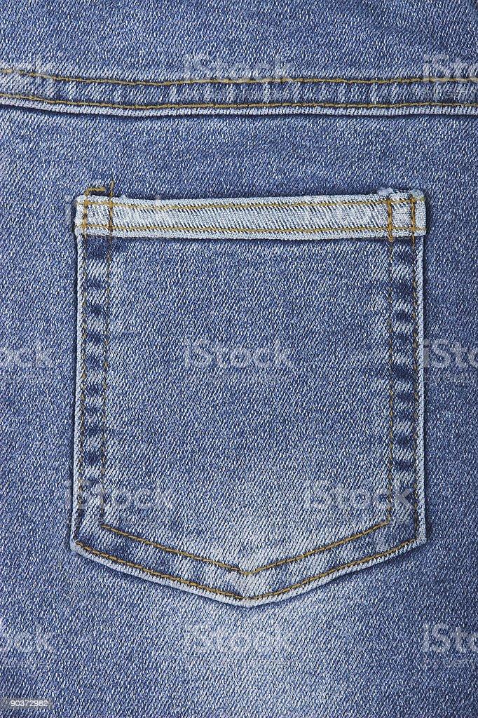 jean pocket royalty-free stock photo