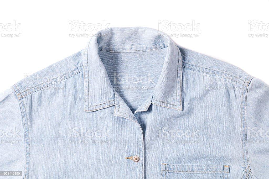 jean shirt stock photo