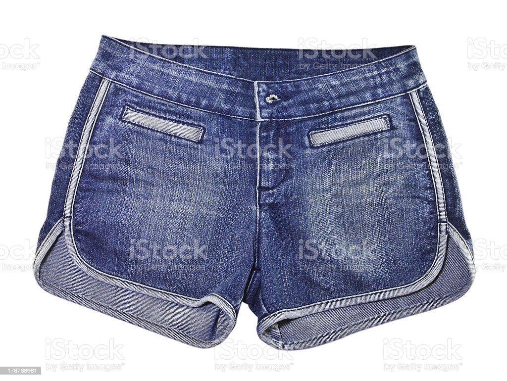Jean short pants stock photo