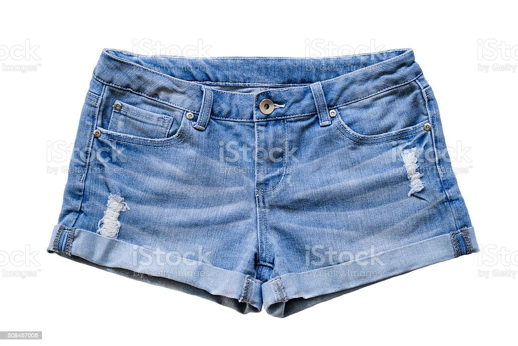 Jean shorts stock photo