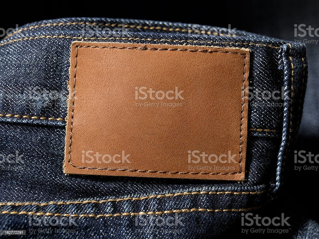 jean tag stock photo