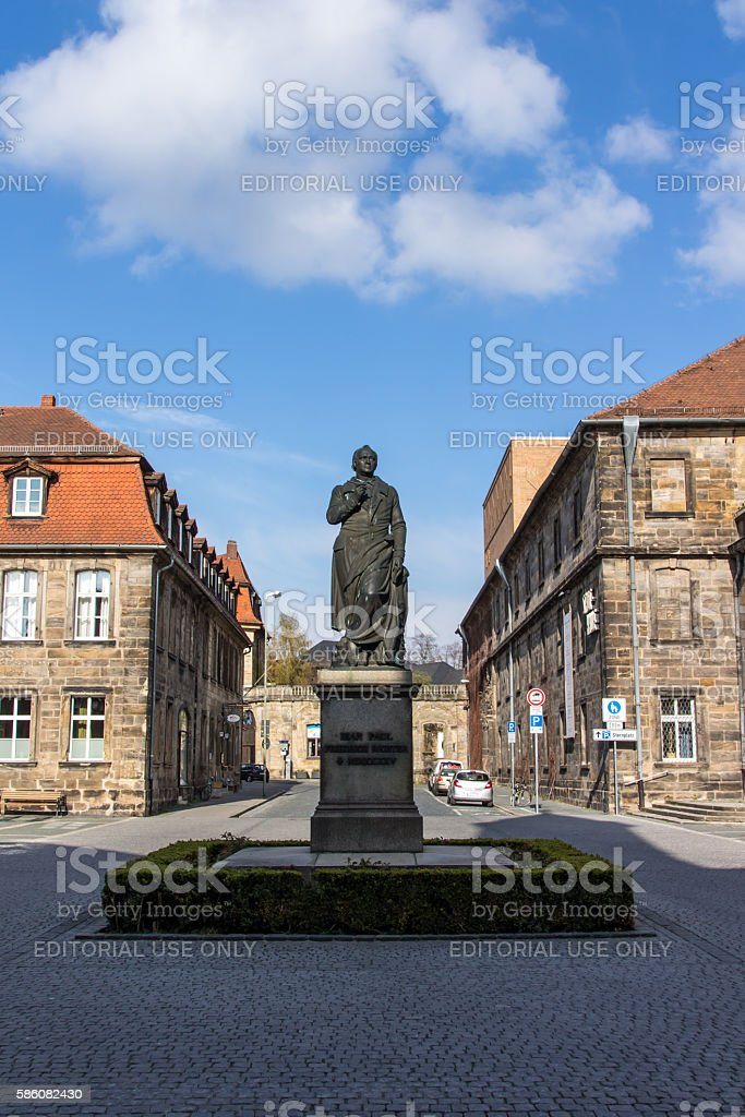Jean-Paul statue in Bayreuth, Germany, 2015 stock photo