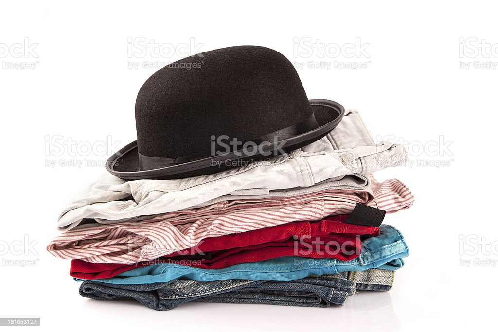 jeans and Hat stock photo