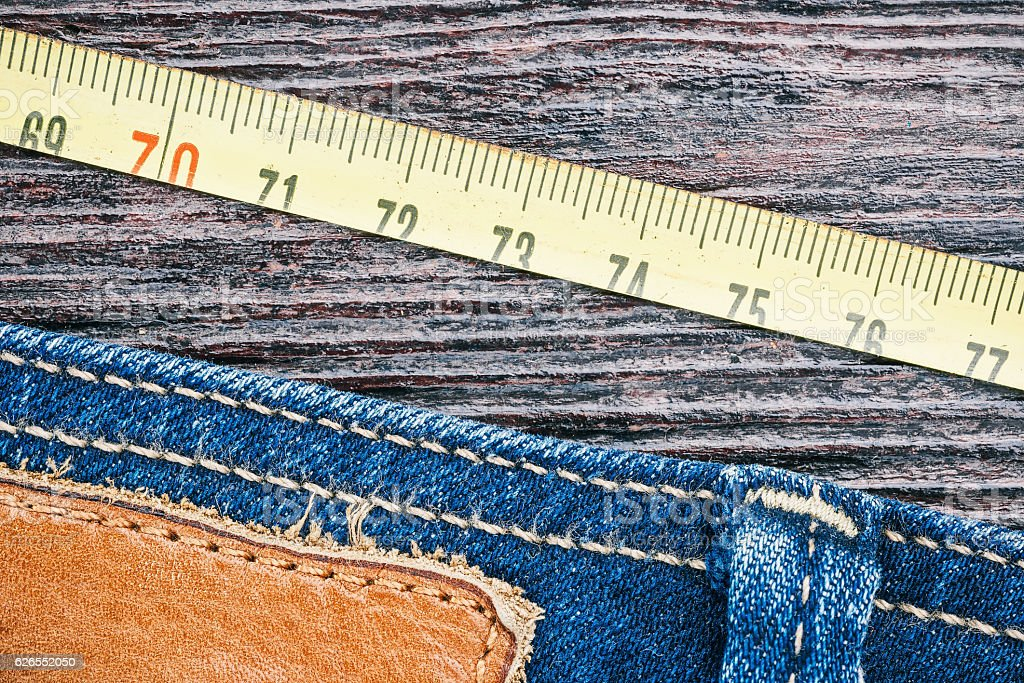 Jeans and tools background stock photo