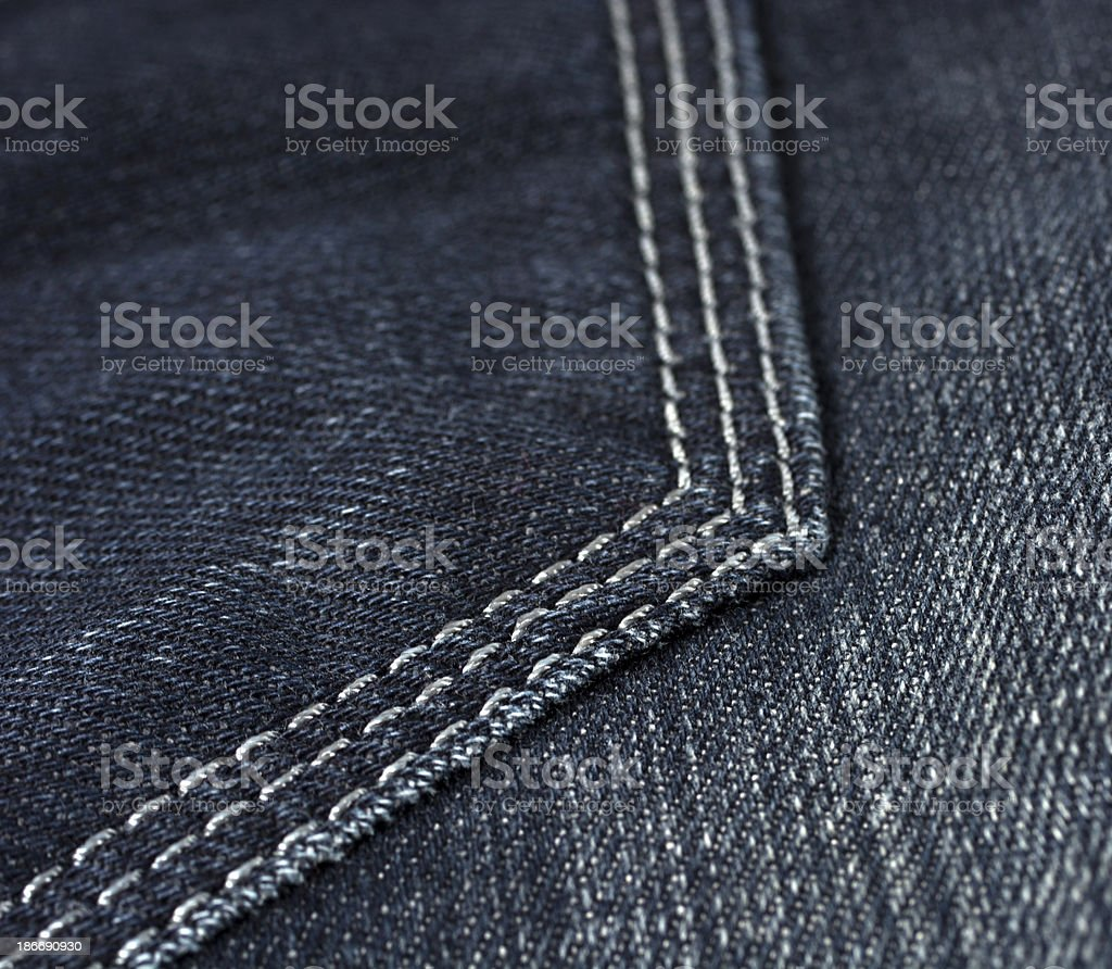 Jeans back pocket, detail royalty-free stock photo