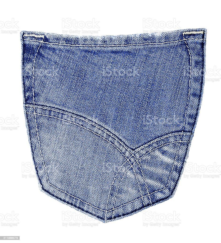 Jeans back pocket stock photo