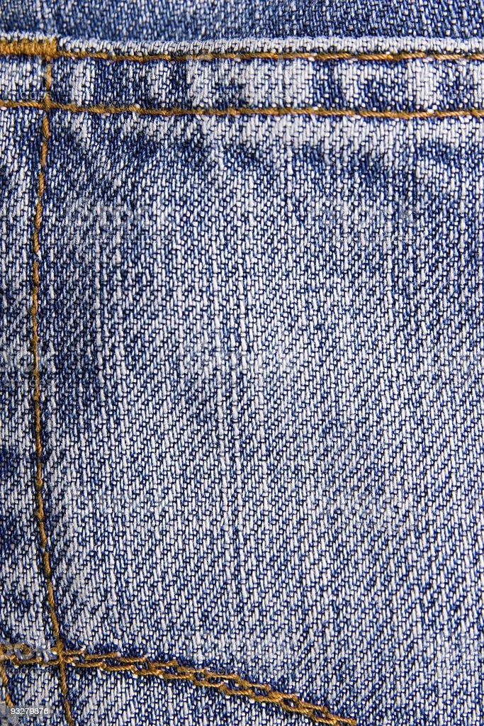 Jeans back pocket royalty-free stock photo