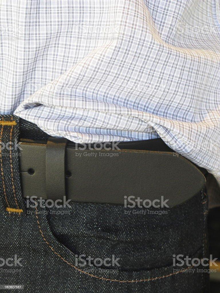 Jeans Belt Shirt Designer royalty-free stock photo