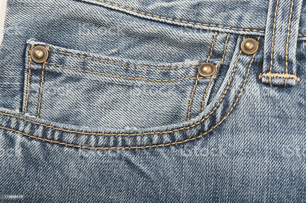 Jeans Close-up royalty-free stock photo