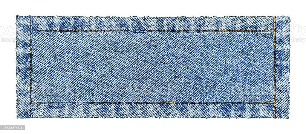 Jeans denim banner textured background isolated stock photo